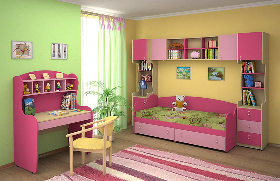 children bedroom furniture set pink smile