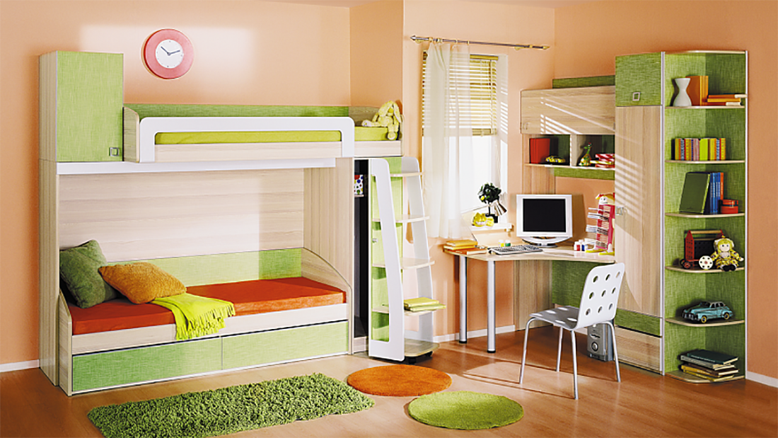 children bedroom furnitue set pillo