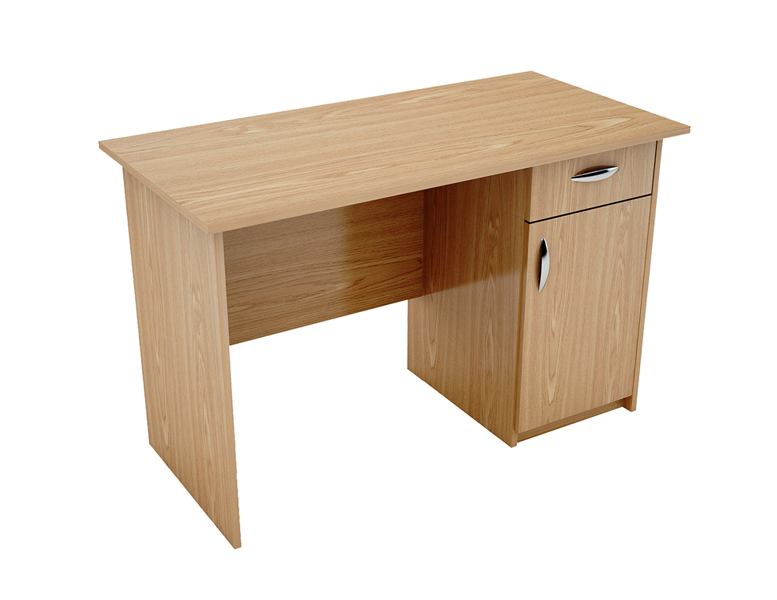 writing desk with cupboard