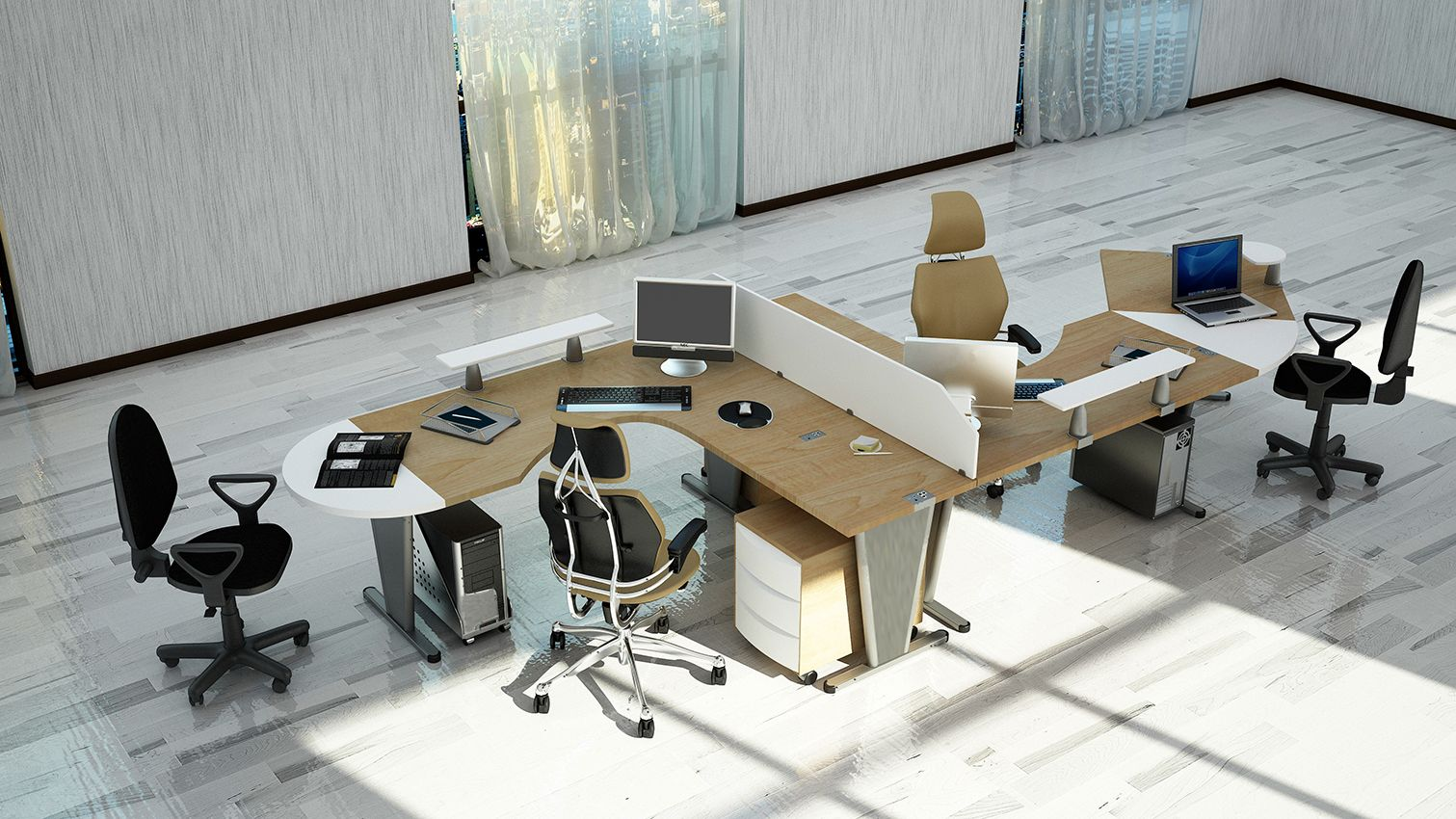 Furniture for office worker-trapes