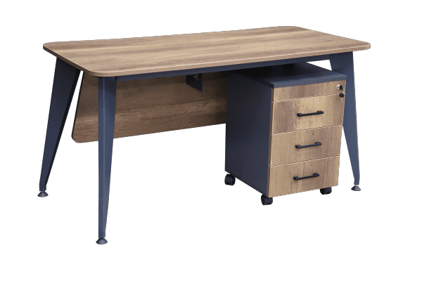 Writing desk - Grow (edges oval) + wheeled
