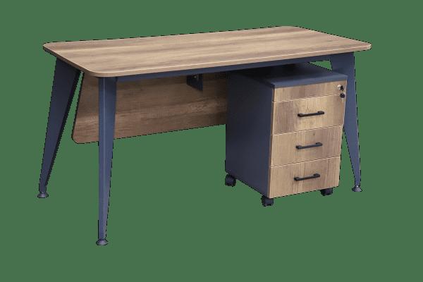 Yazı masası - Grow (Kənarları oval) +  təkərli